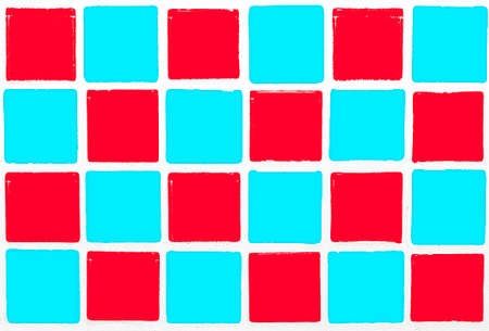 glazed: Glazed tiles colorful red cyan