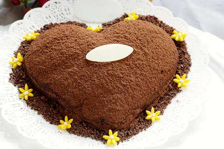chocolate powder: heart chocolate cake chocolate powder cocoa