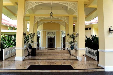 granite: entrance building luxury columns granite floor