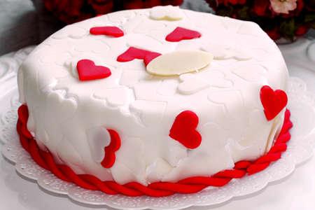 patisserie: heart shape valentines mothers day vanilla cake