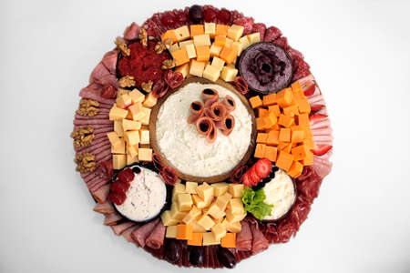 Cold meat cheese pate plate