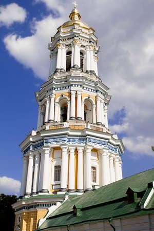 orthodox church dome cupolas Kiev Lavra Reklamní fotografie
