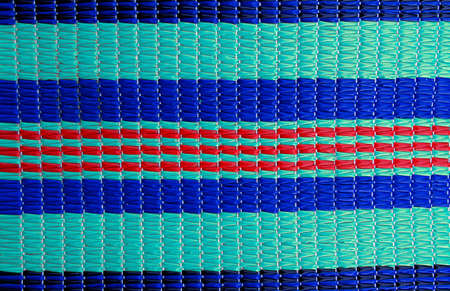 beach rug plastic straight line cyano blue red Banco de Imagens