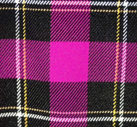 plaid fabric pink scottish design Stock Photo