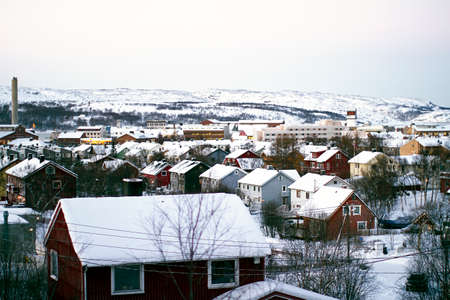 winter snow houses Kirkenes