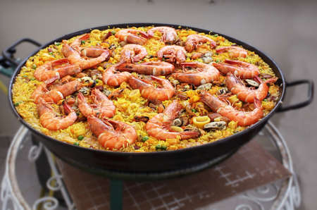 marisco: paella spanish seafood rice