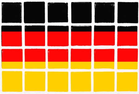 br: Glazed tiles germany flag