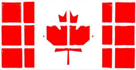 Glazed tiles canada flag