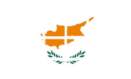 Glazed tiles cyprus flag