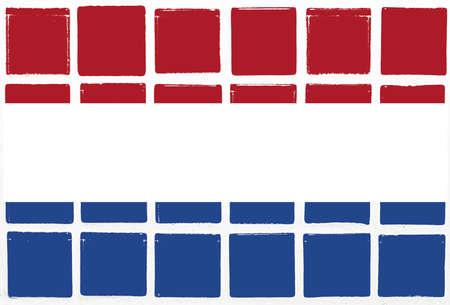 nederland: Glazed tiles nederland flag