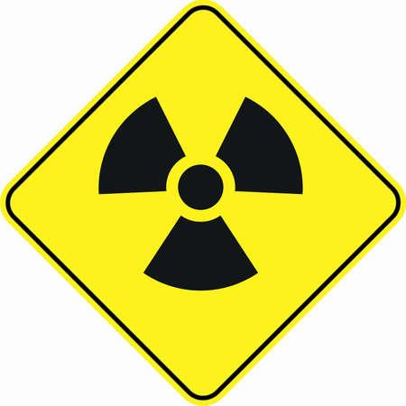 caution chemistry: radioactivity toxic zone symbol sign