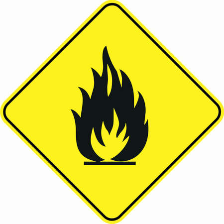 Warning Flammable Material Symbol Sign Stock Photo Picture And