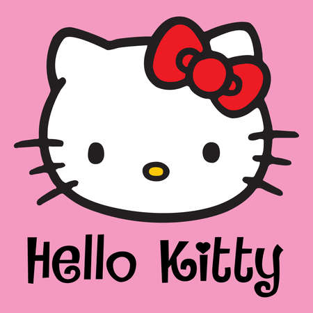 Hallo Kitty rosa Kopf Standard-Bild - 76979596