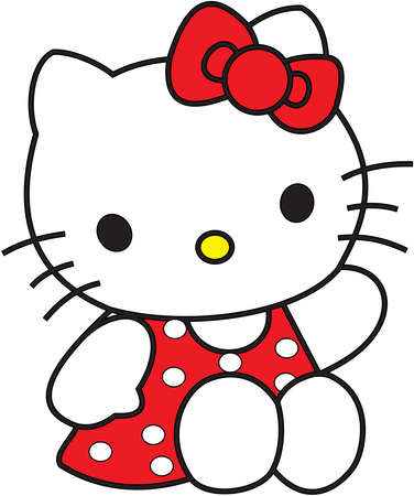 こんにちはキティの赤ドレス 報道画像