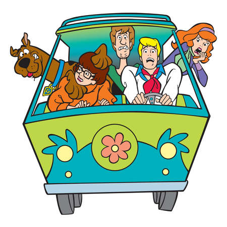 Scooby Doo van animation Редакционное