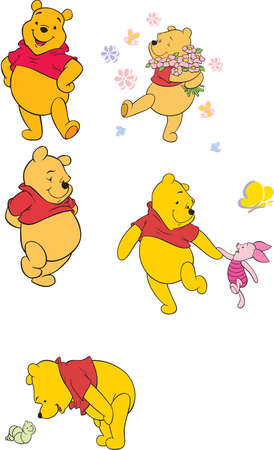 Winnie the Pooh  bear cartoon Editorial