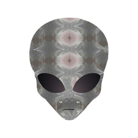 Alien gray head illustration