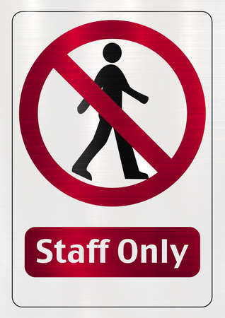 Staff Only  restricted  sign
