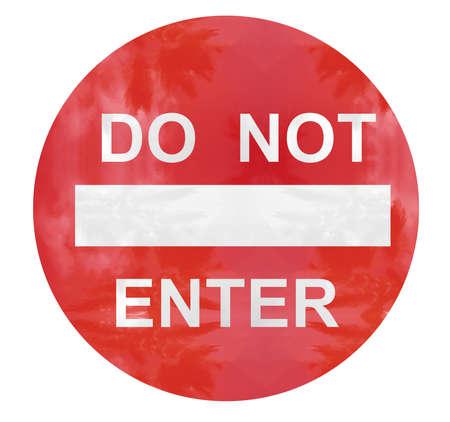 do not enter caution sign illustration