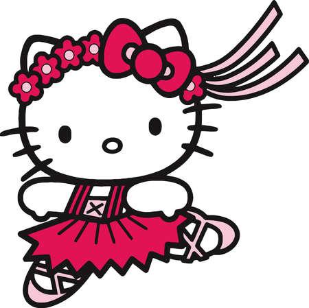 Hallo Kitty Ballett Tänzerin Standard-Bild - 79121845