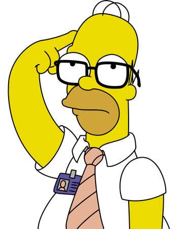 homer: Homer Simpson Thinking illustration Editorial