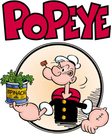Popeye Seemann Mann Illustration Standard-Bild - 79121859