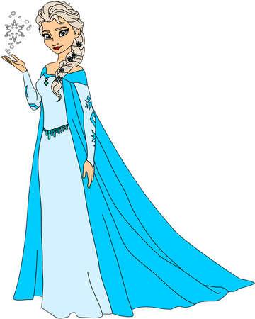 frozen queen elsa illustration