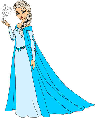 Gefrorene Königin Elsa Illustration Standard-Bild - 80139677
