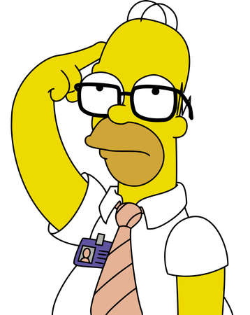 Homer Simpson Thinking illustration Editorial