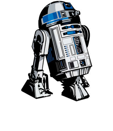 Star Wars Droid R2 D2 illustration Editorial