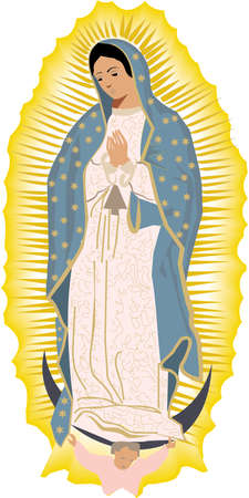 catholicism: Virgen de Guadalupe religious illustration Stock Photo