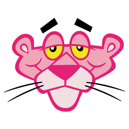 Pink Panther illustration comedy Stock Photo - 79956214