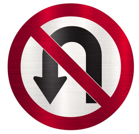 no u turns sign illustration