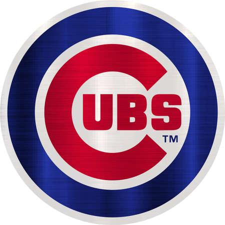 시카고 컵스 MLB 팀 흰색 배경 스톡 콘텐츠