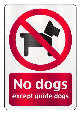 no dogs allowed except guide dogs Stock fotó