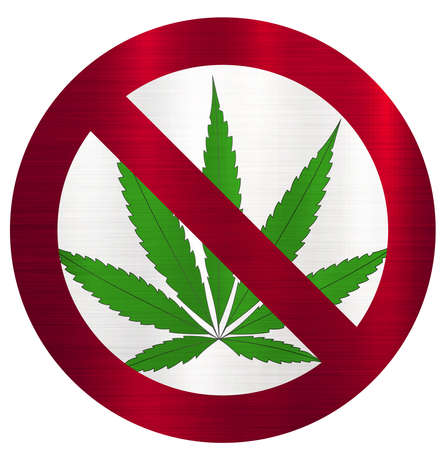 No Smoking marijuana forbidden Stock Photo