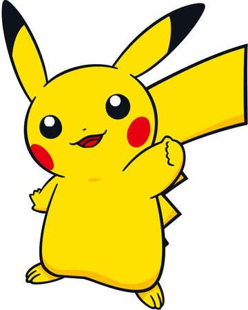 Pikachu ilustración pokemon ir juego Foto de archivo - 80664687