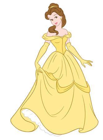 belle prinses illustratie schoonheid beest