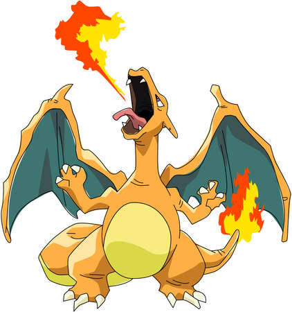 charizard   illustration pokemon go game fire