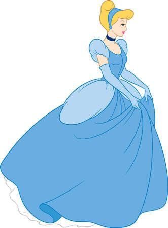 cinderella  princess illustration tales Editorial