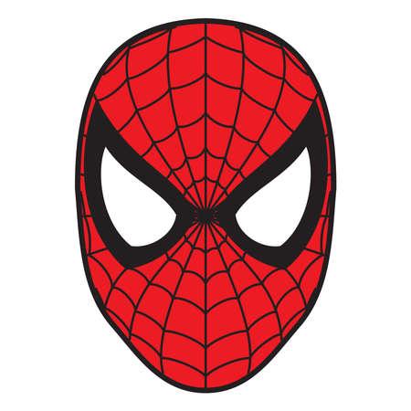 Spiderman Maske Illustration rote Farbe Standard-Bild - 80664851