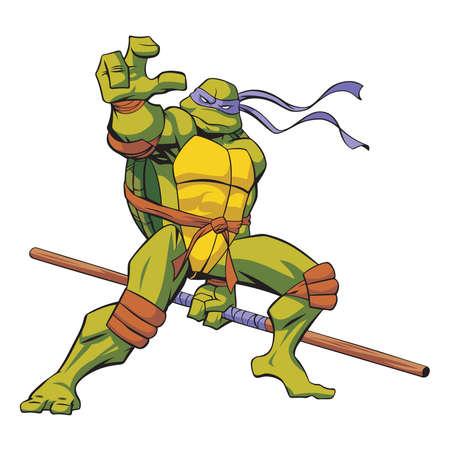 Teenage Mutant Ninja Schildkröten Donatello Standard-Bild - 81093357