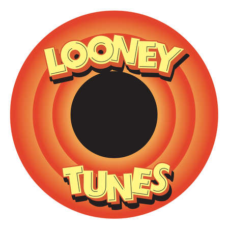 Looney Tunes shape circle illustration Editorial