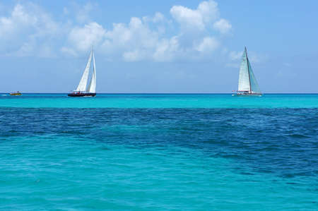 caribe sand beach boat