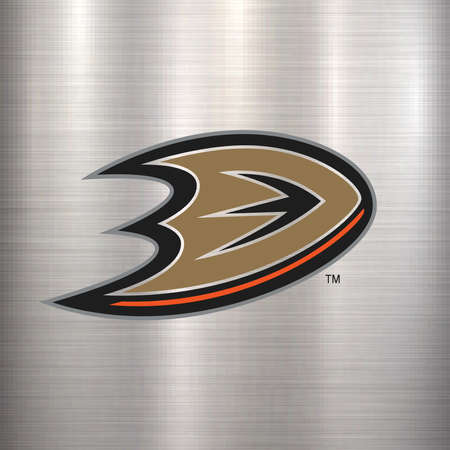 anaheim ducks NHL metal logo Editorial