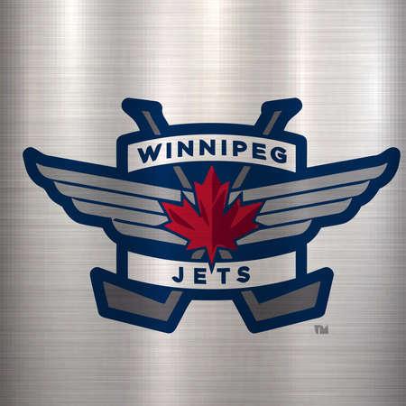 winnipeg jets logo metal NHL Canada