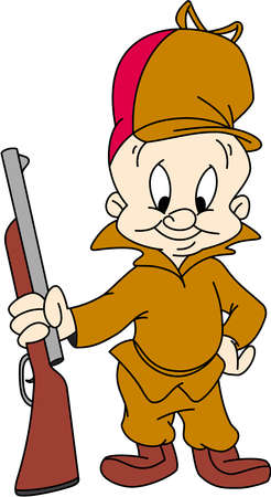 elmer fudd hunt illustration Editorial