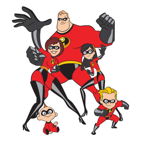 The Incredibles family superheroes