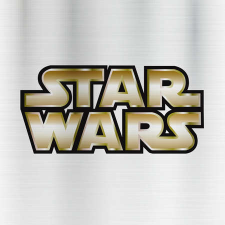 スター ・ ウォーズのロゴの図金属 報道画像