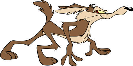 coyote illustration cartoon comedy head run